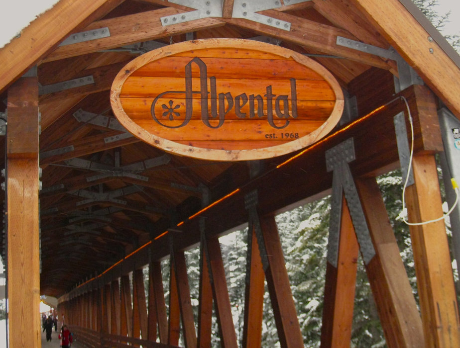 Entry to Alpental at the Summit at Snoqualmie is via a classic wooden footbridge. - ©Becky Lomax