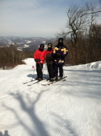Great bluebird day!! Runs are so nice . Glad to have the one high speed chair . No lines !