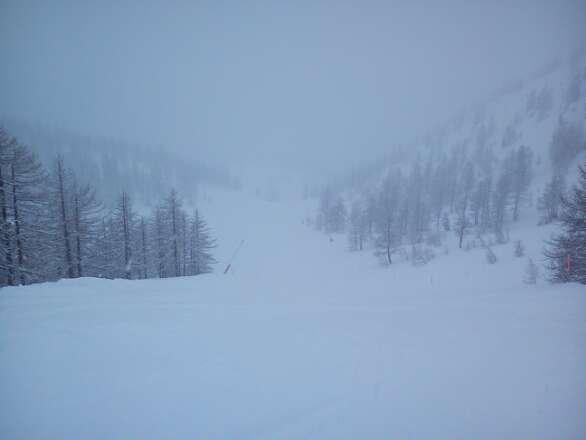 -4°C -- 30 cm neve nuova farinosissima, circa 2.00m neve già presente. Fantastico!!!