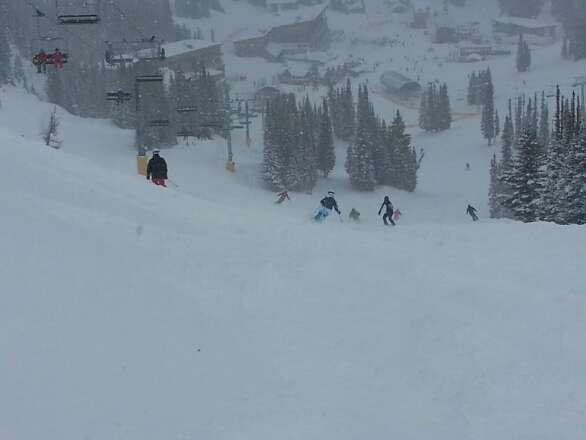 Pretty amazing conditions today...fresh powder everywhere!