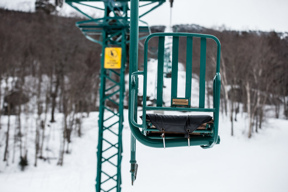 The legendary single chair at MRG, one of the last of its kind. - © Liam Doran
