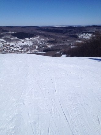 Great sunny March day. Some corduroy. Nothing to complain about!