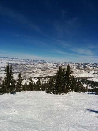 Some sweet spring skiing today. Nice weather and the snow was still awesome from the dump on Friday.