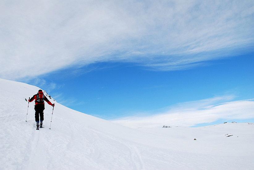 1300 Höhenmeter sind bei der Fanellhorn-Skitour zu überwinden - © Marion Neumann