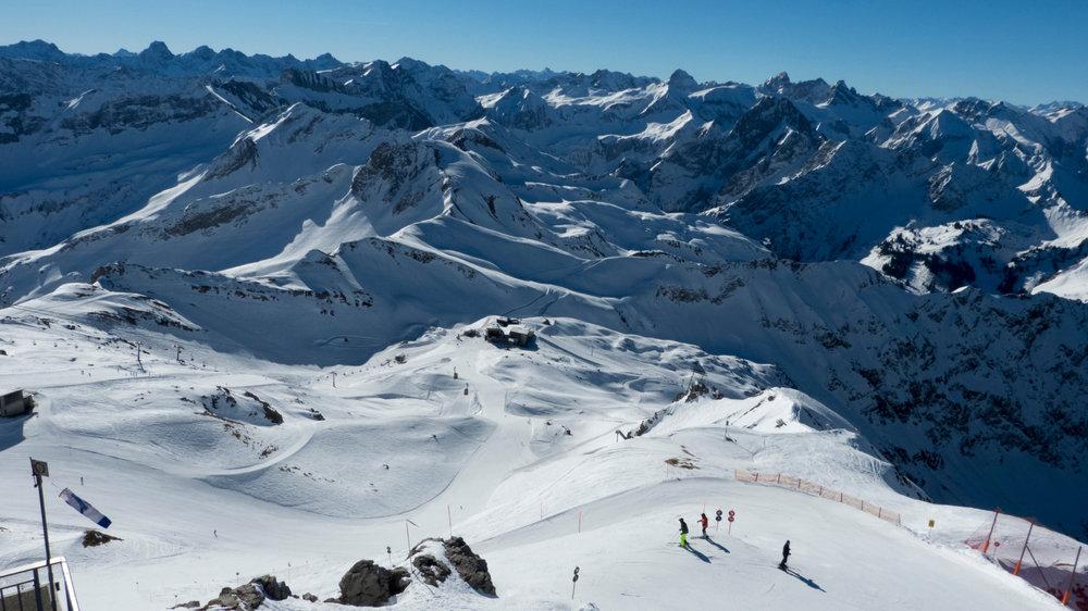 Blick auf das Skigebiet - © Fellhornbahn GmbH