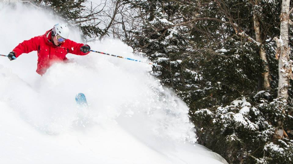 A skier finds a massive March stash at Whiteface. - © Whiteface Mountain