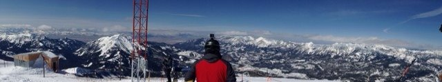 Yesterday, from top of Lone Mtn. Great ski day.