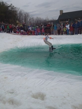 Awsome fun at the pond today snow was as good as could be!