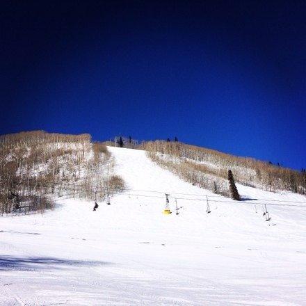 Fresh tracks down Showdown, Cobalt skies & fresh mountain air!!