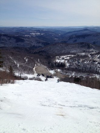 Great cover and awesome spring conditions. Softened up once temps got above 40. Pretty much 100% open!