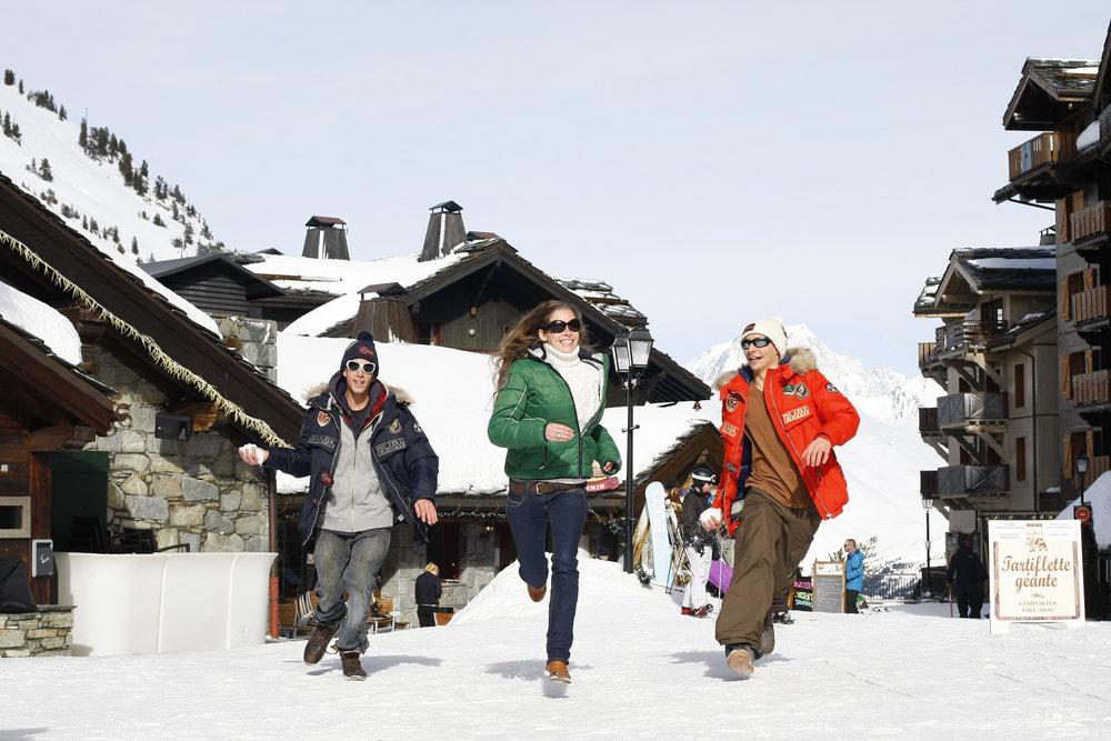 La station des Arcs, c'est le choix entre plusieurs villages piétons, différentes altitudes et ambiances. - © Agence Urope / Les Arcs