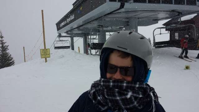 1st day if a 5 day trip with my boy.  total whiteout from 2pm.  3 inches of pow fell in 30 mins at top of Independence Lift.  still snowing now and cannot wait for 1st trax!!!