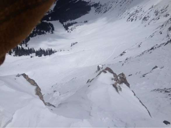 Amazing powder all weed. This pic is from the top on North Pole narrow