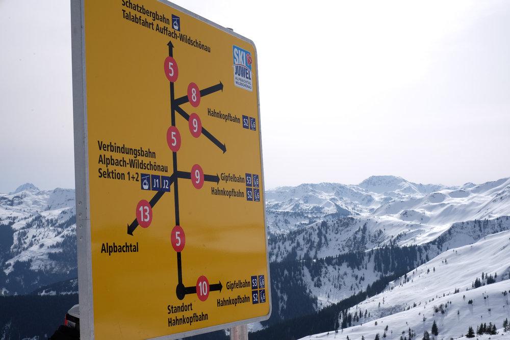Zahlreiche Optionen im Skigebiet Alpbachtal - © Skiinfo