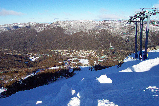 Big shadows and big snow at Thredbo. - © Brendio