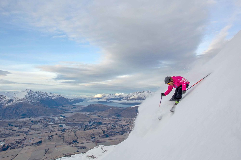 Steep Powder at Coronet Peak - © CoronetPeak