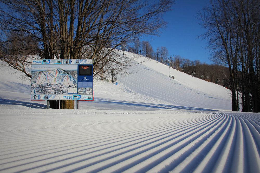 Crystal Mountain frontside base, looking toward Loki and Thor slopes. - © Crystal Mountain