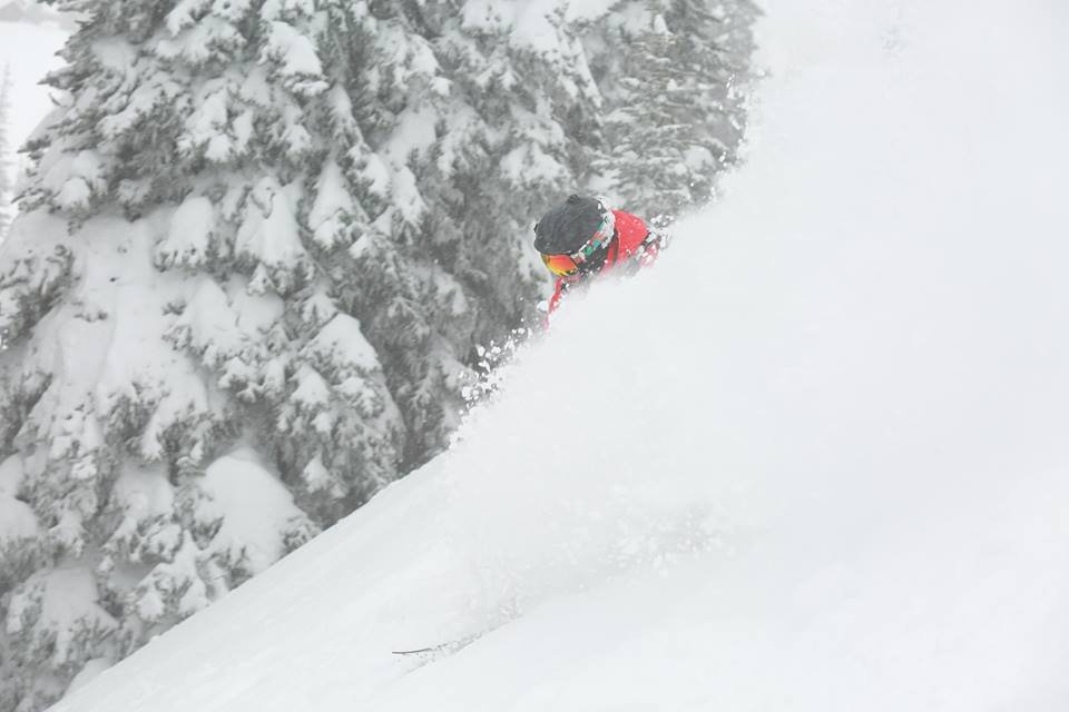 Matt Edgars finding powder at Crystal Mountain Resort in Washington. - © Crystal Mountain Resort