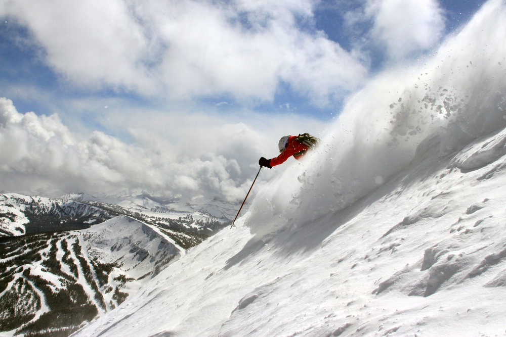 Ripping the dictator chutes at Big Sky.  - ©Lonnie Ball