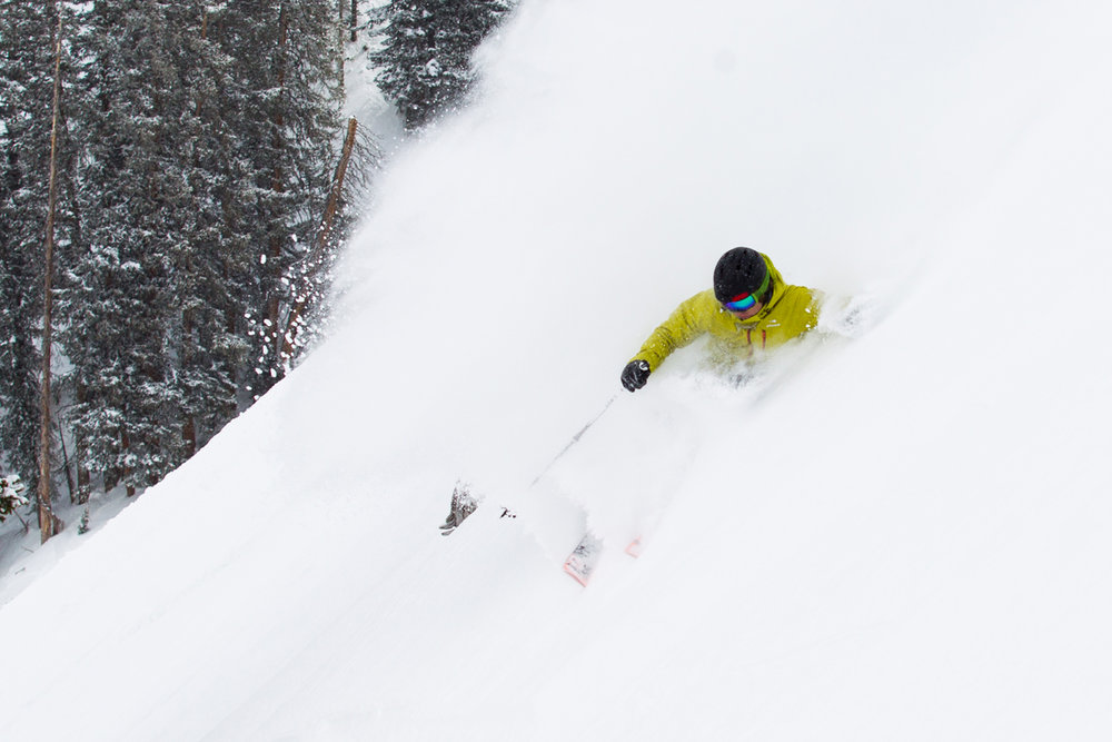 Getting deep on Ski Test day 2. - ©Cody Downard Photography