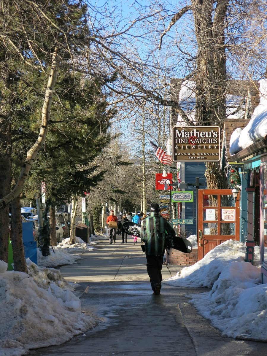 On the go in Breckenridge's town centre - ©Micaela Romani