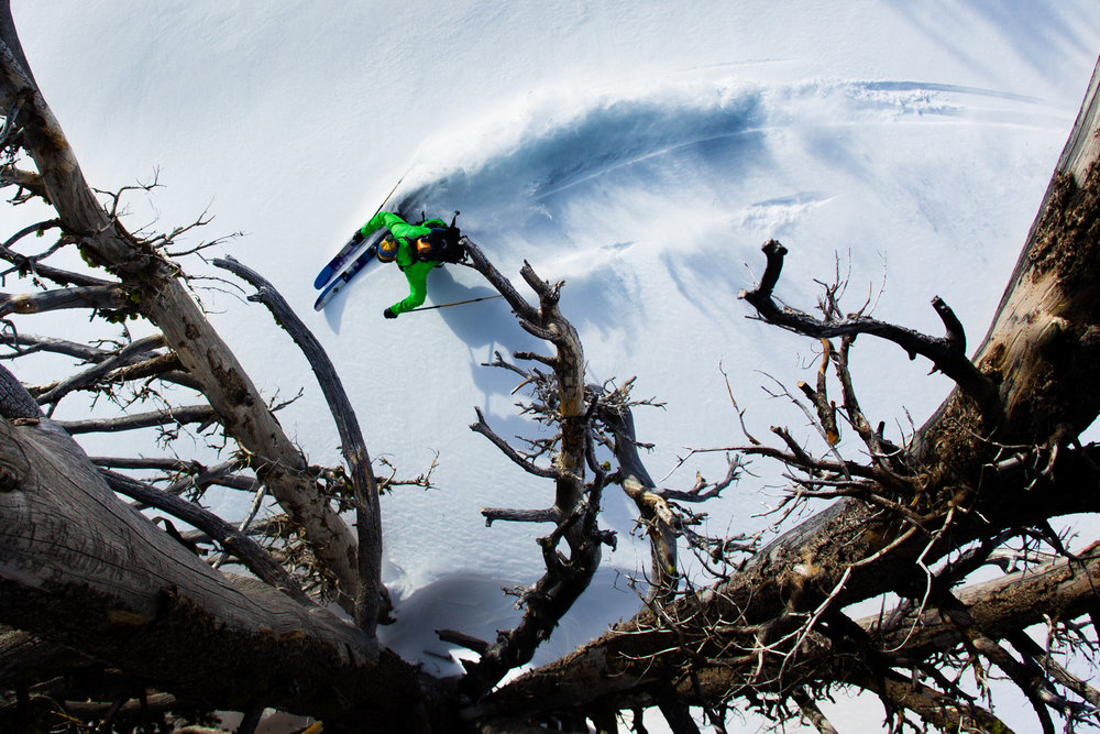 Getting some Hoodoo freshies.  - ©Tyler Roemer