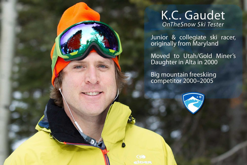 "K.C. Gaudet, 35. What's the worst thing that's ever happened to you while skiing? ""Pelvis, knee, jaw, concussion, concussion, thumb, thumb, thumb, thumb… oh, and I lost a glove from the lift once."" - ©Cody Downard Photography"