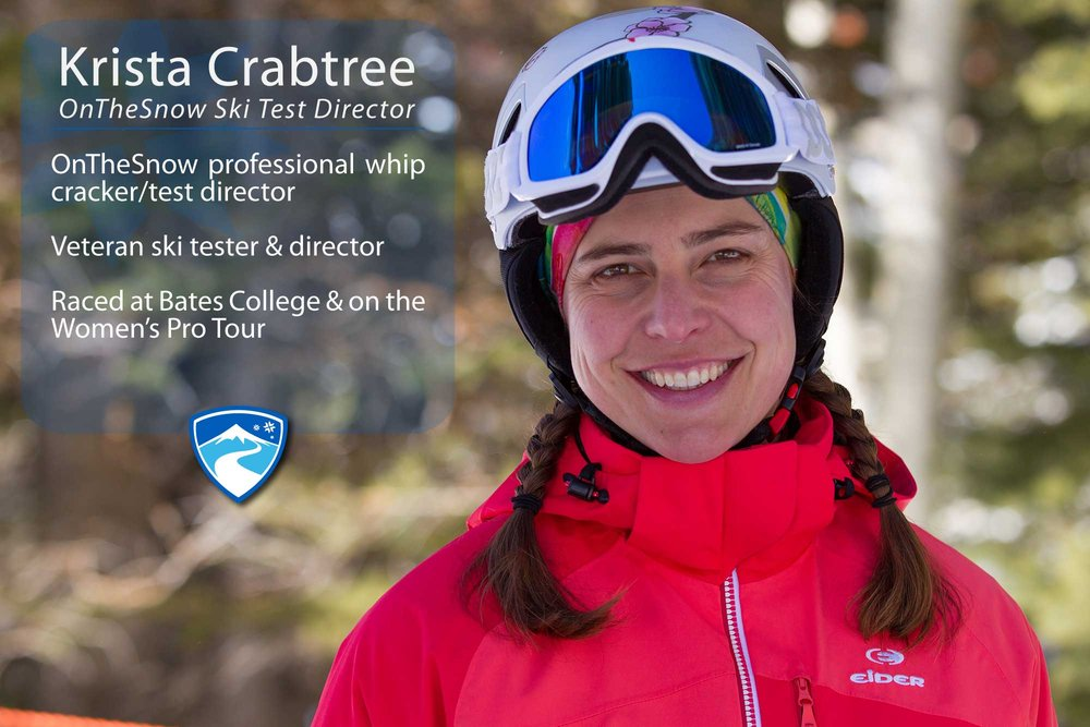 "Krista Crabtree, 41. Your ultimate ski day would need to include what? ""A crew of awesome ski testers, rad skis and a great test venue like Snowbird, Utah. Throw in some powder, an après-ski party, maybe a hot tub, friends, family, food and you've got an ultimate day."" - ©Cody Downard Photography"