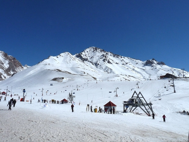 Summer ski resort: Lifts and slopes of Las Lenas, Argentina. - ©Phil Goth