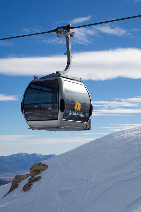 Mammoth's gondola takes skiers to a variety of terrain in style. - ©Cody Downard Photography