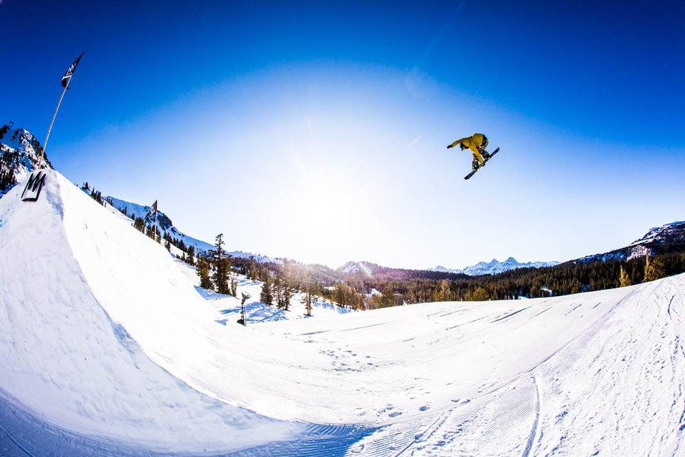 Mammoth's terrain park design is all about progression, easing skiers and snowboarders into bigger features at comfortable levels along the way. - © Peter Morning