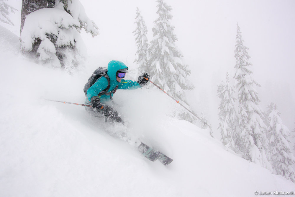 Powder day bliss at Mt. Baker. - © Jason Matkowski