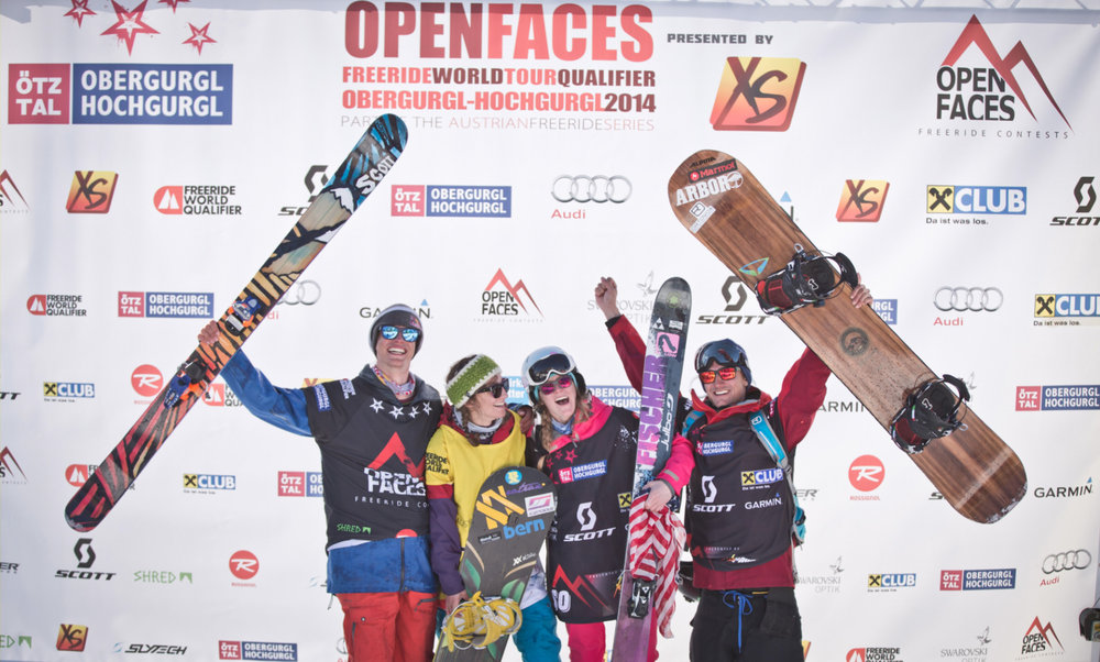 Die Siegerinnen und Sieger des Open Faces in Obergurgl 2014 - © OpenFaces/ObergurglHochgurgl/Maria Knoll