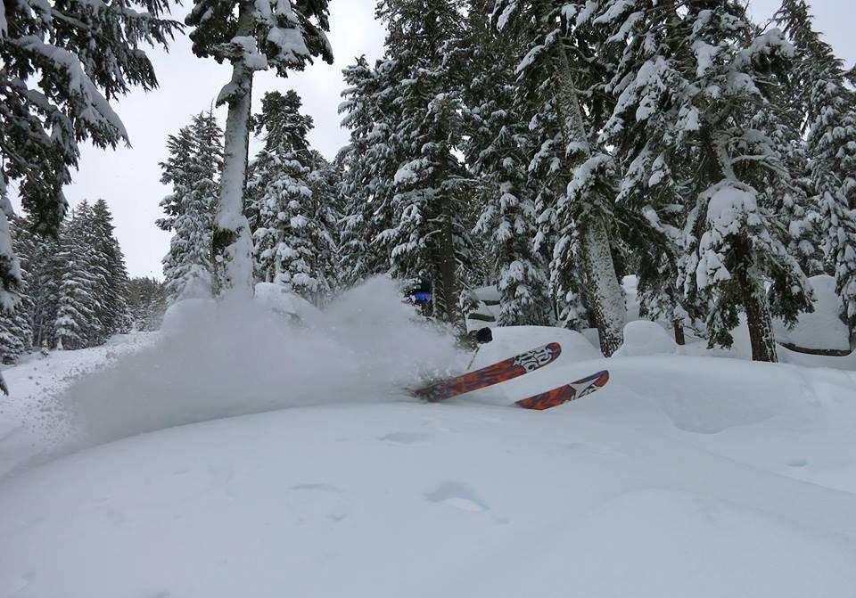 Deep turns in deep snow. - © Brian Walker