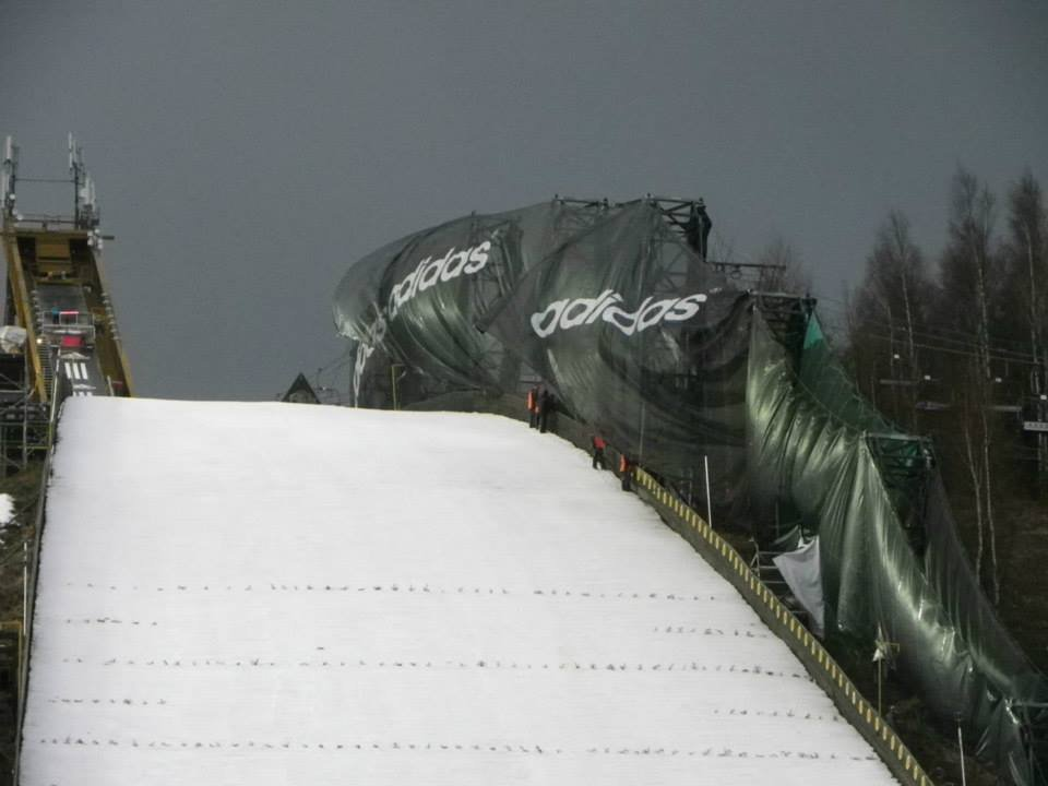 Ski Flying World Championships 2014 Harrachov: Competition was canceled due to very strong wind. - © SA Harrachov