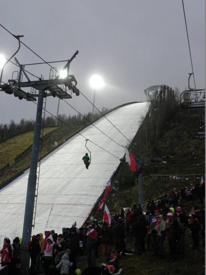 Ski Flying World Championships 2014 Harrachov: Competition was canceled due to very strong wind. - ©SA Harrachov