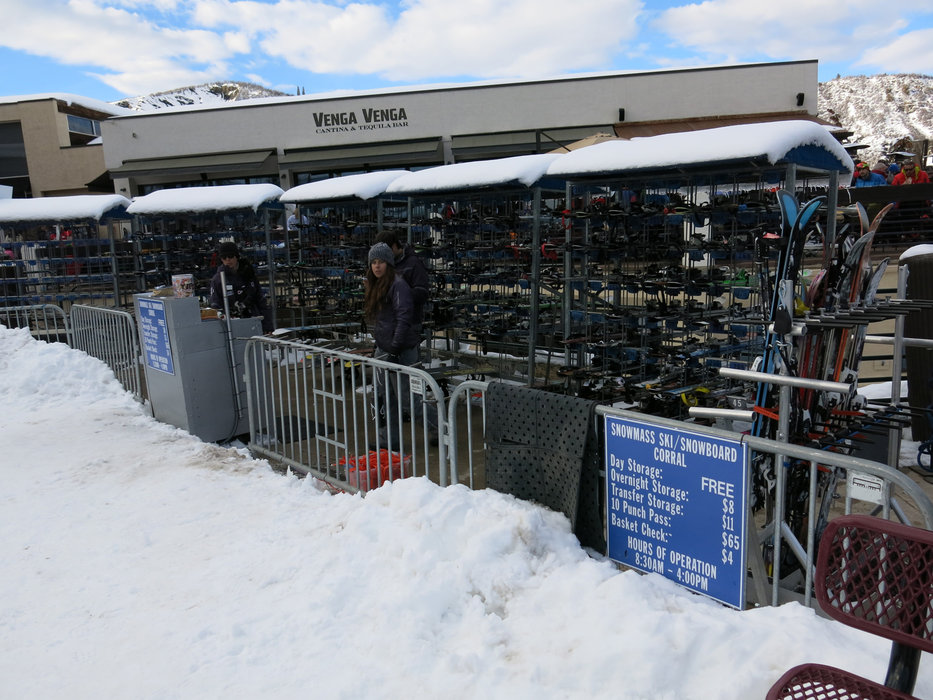 Ski/snowboard corral in Snowmass - ©Micaela Romani