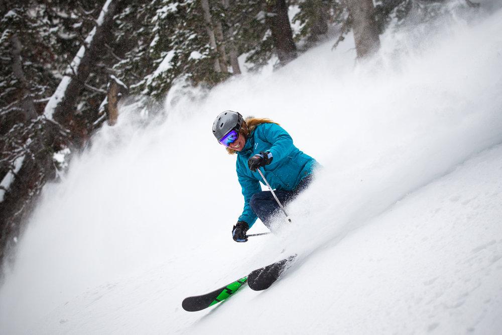 Ski Test day 2 was a powder playground.