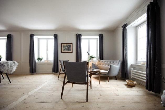 Das Wohnzimmer des Hotels Brücke in Vals - © Brücke