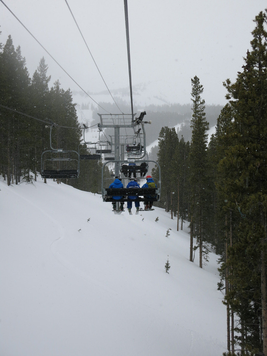 Taking the ski lift in Breckenridge - ©Micaela Romani