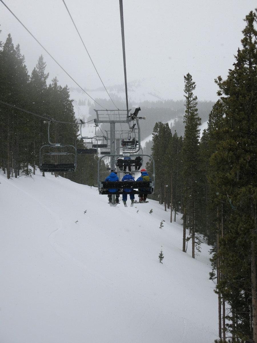 Taking the ski lift in Breckenridge - ©Micaela Romani