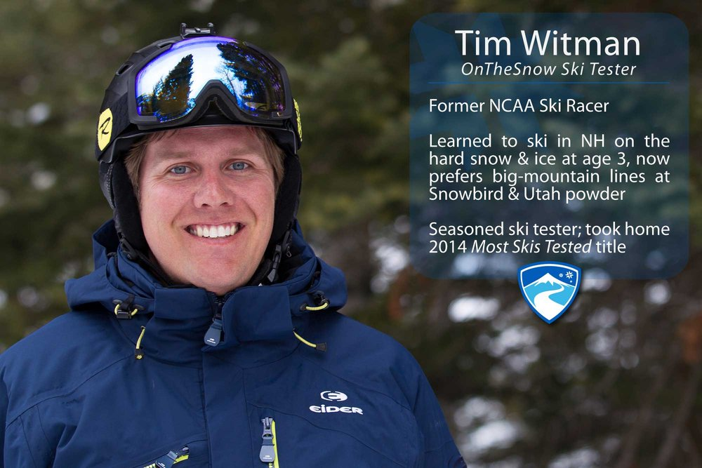 "Tim Witman, 33. If you could ski with anyone (past, present or future) who would it be? ""My grandfather was a laser physicist, loved skiing and always had the latest and greatest ski equipment. He read through all the ski test results to find out which skis and boots were the best. I'd love to ski with him and talk about how wide skis have gotten, the use of rocker and new technology."" - © Cody Downard Photography"