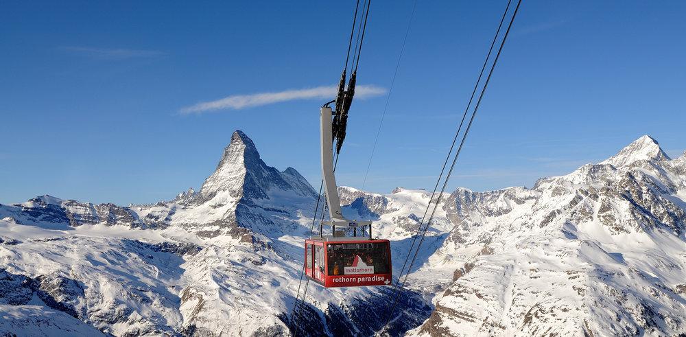 Skiing Zermatt provides breathtaking views of the Matterhorn. - © Michael Portmann