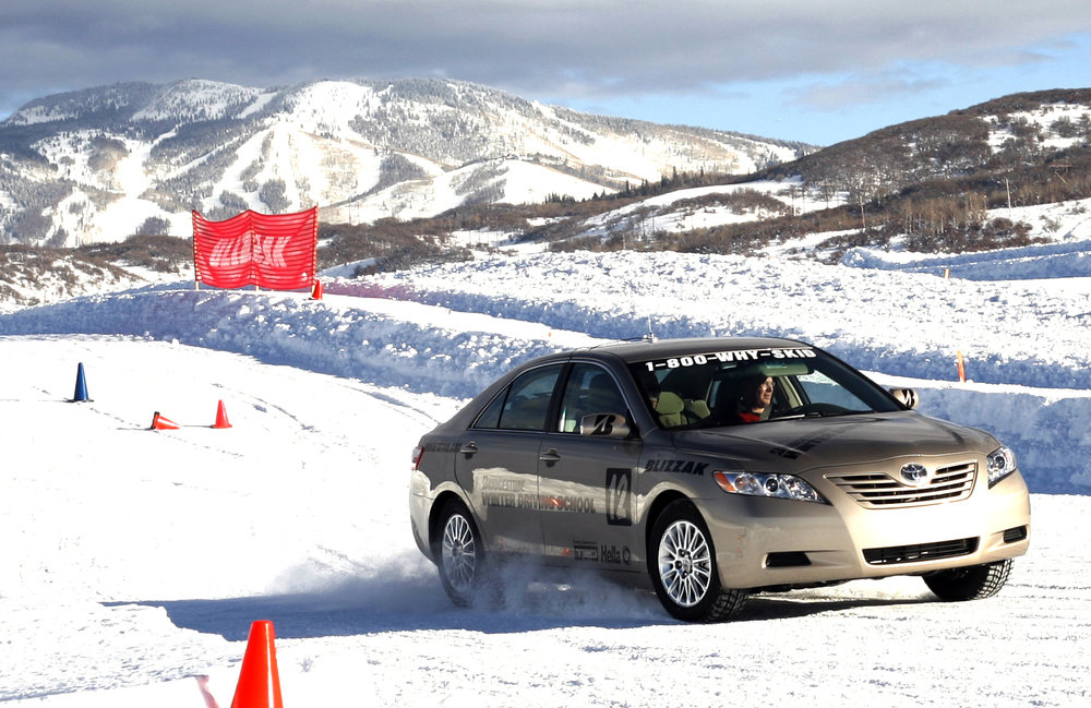 Winter driving school at Steamboat Springs