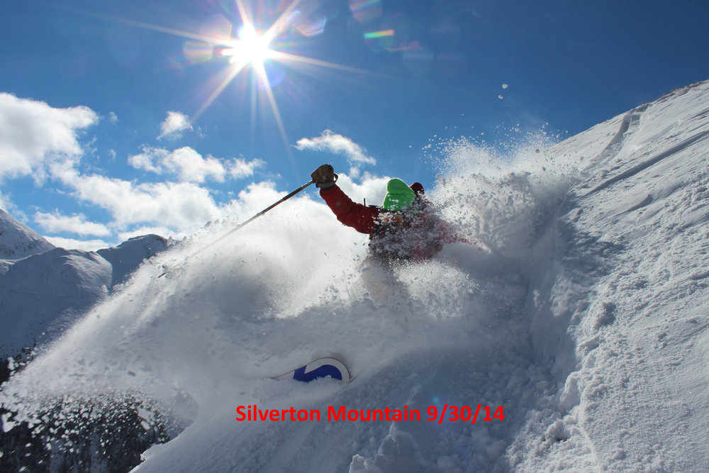 Patrollers are already skiing powder this week at Silverton! - © Courtesy of Silverton Mountain