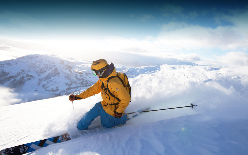 Mye fin snø på Voss