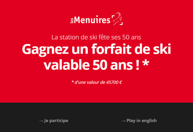 50 years Les Menuires game - ©Tourist Office Les Menuires