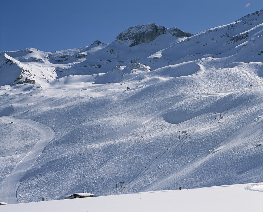 Scenic slopes of Adelboden.