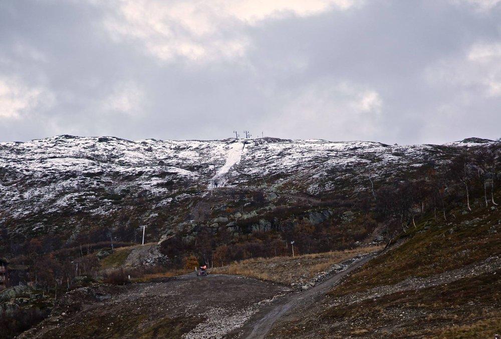Slik så det ut på Haukelifjell i går. - © Haukelifjell
