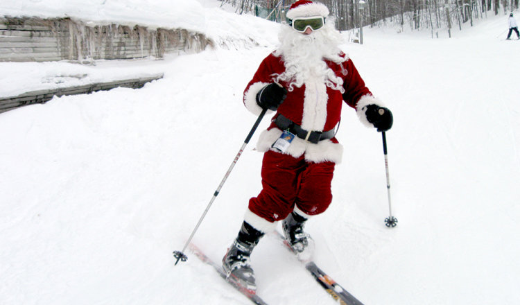 Ski Free With Santa on the Slopes of Schuss Mountain on Christmas Day! - ©Shanty Creek Resorts